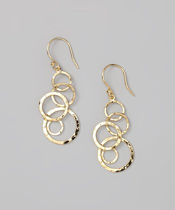 Gold Cascading Circles Earrings