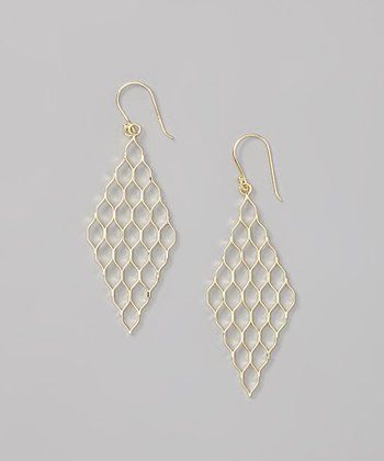 Gold Diamond Mesh Earrings