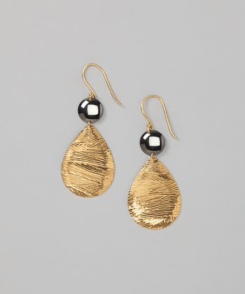 Gold & Gunmetal Earrings