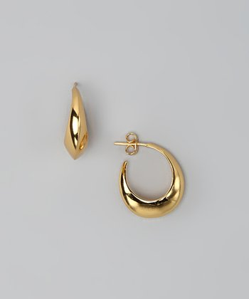 Gold Full Circle Huggie Earrings