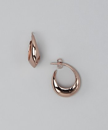 Rose Gold Full Circle Huggie Earrings