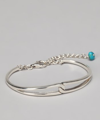 Sterling Silver & Turquoise Dangle Bracelet