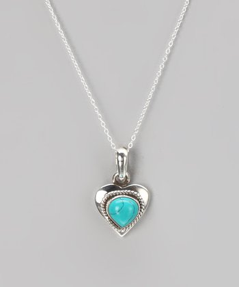 Sterling Silver & Turquoise Pendant Necklace