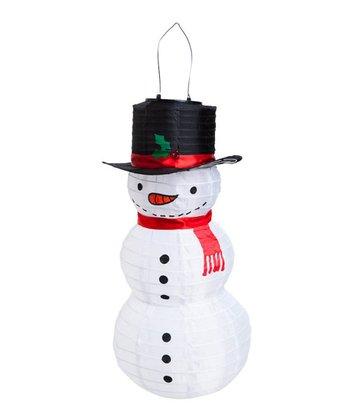 Solar Tiered Snowman Lantern
