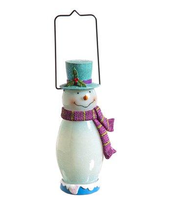 Cheerful Snowman Lantern