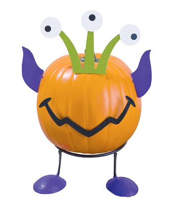 Three-Eyed Alien Pumpkin Patch Figurine