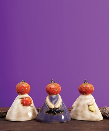 Pumpkin Heads Figurine Set
