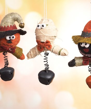 Plush Halloween Ornament Set