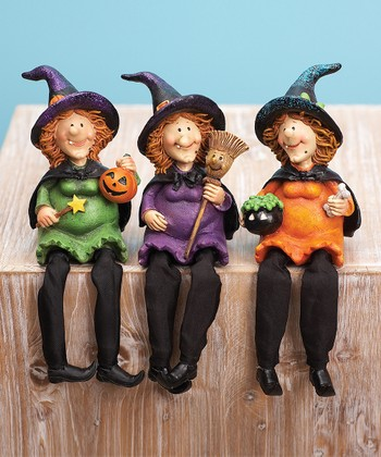 Happy Witch Shelf Sitter Set