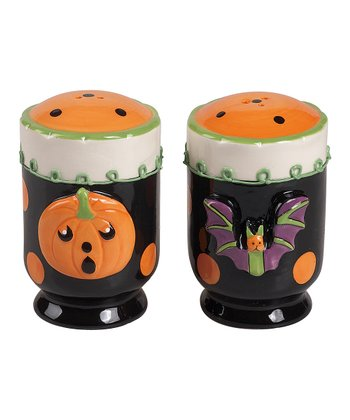 Black & Orange Halloween Salt & Pepper Shakers