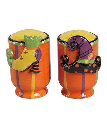 Orange & Yellow Halloween Salt & Pepper Shakers