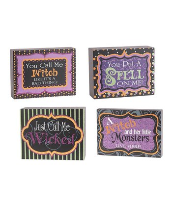 Nested Halloween Quote Block Set