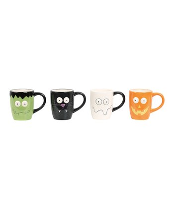 Halloween Faces Mug Set