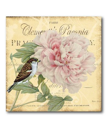 Paris Peony Canvas Wall Art