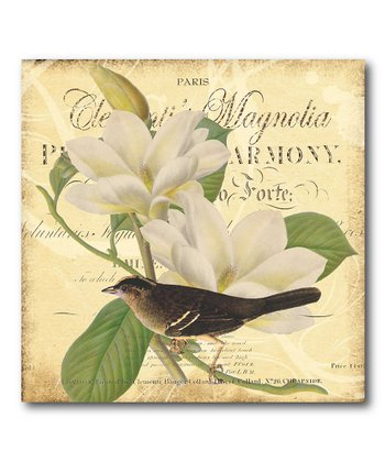 Paris Magnolia Canvas Wall Art