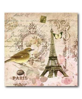 French Scene Canvas Wall Art