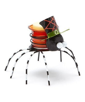 Green Top Hat Spider Candleholder