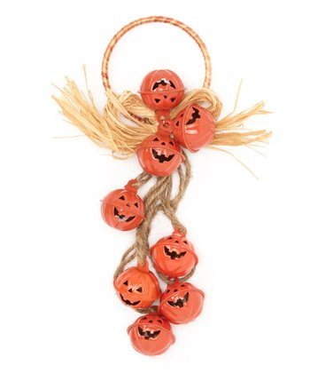 Orange Pumpkin Jingle Wreath