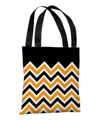 Black & Orange Zigzag Treat Bag