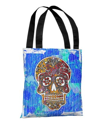 Blue Dia de Los Muertos Treat Bag