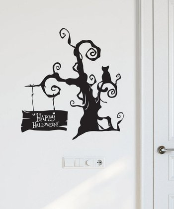 Spooky Halloween Tree Wall Decal