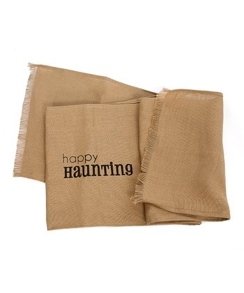 Tan 'Happy Haunting' Table Runner