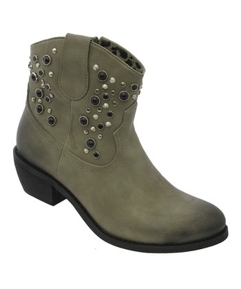 Green Studded Savanna Cowboy Boot