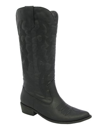 Black Stitch Cowboy Boot