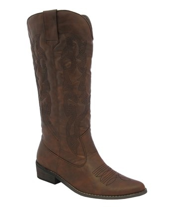 Brown Stitch Cowboy Boot