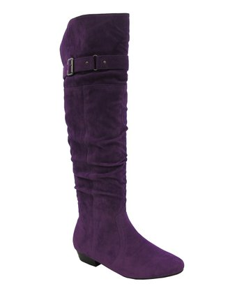 Purple Slouchy Lenny Boot