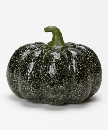 Green Crackle Glitter Pumpkin