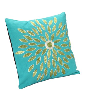 Blue & Green Flower Pillow