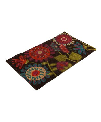 Brown Vibrant Blossom Doormat