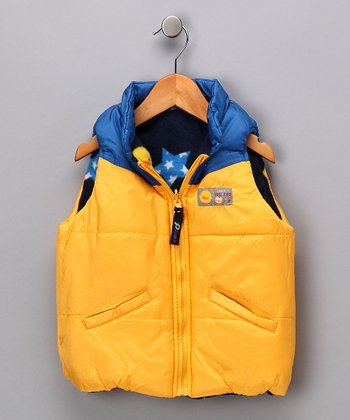 Yellow & Blue Reversible Vest - Toddler & Kids