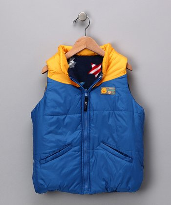 Blue & Yellow Reversible Vest - Toddler & Kids
