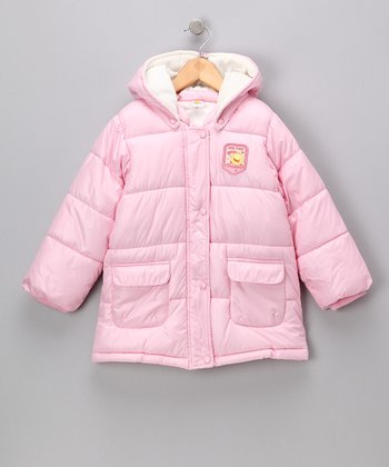 Pink Hooded Puffer Jacket - Infant & Toddler