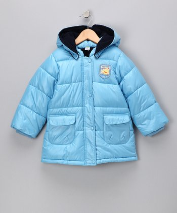 Blue Hooded Puffer Jacket - Infant & Toddler