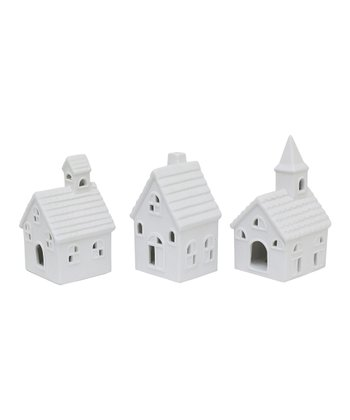 White Tiny House Set
