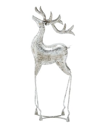 Silver Metal Deer Figurine