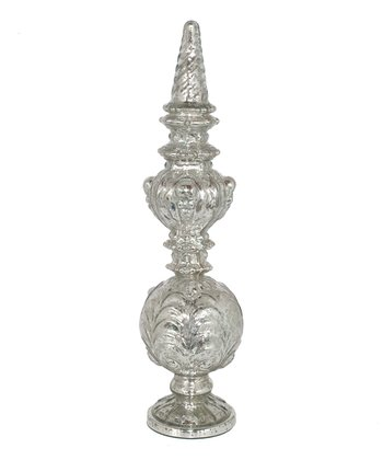 Mercury Glass Ornate Finial