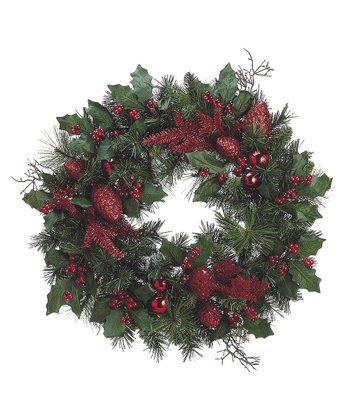 Berry & Pinecone Wreath