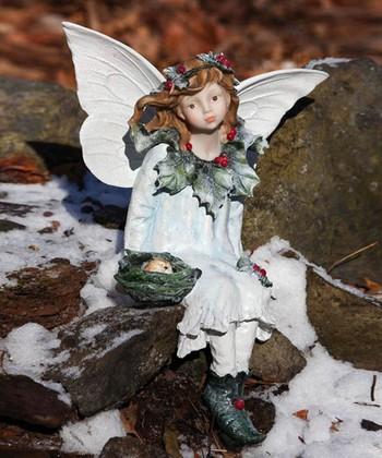 Holly Seated Fairy Garden Figurine