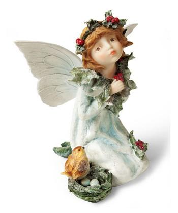 Holly Kneeling Fairy Garden Figurine