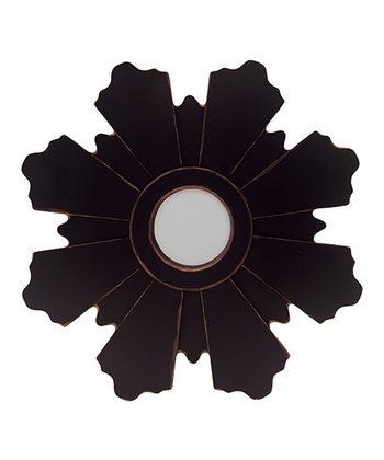 Radial Blossom Circle Mirror