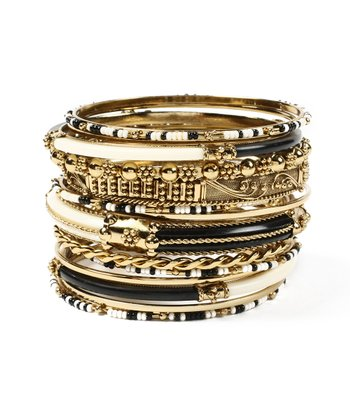 Black & Ivory Monaco Bangle Set