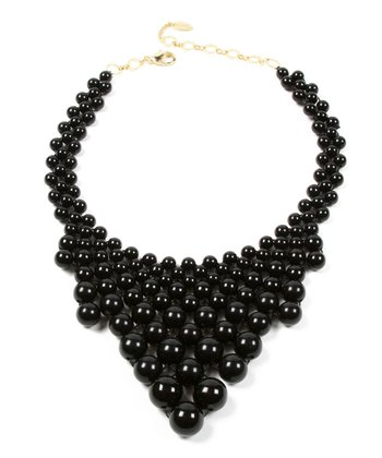 Jet Black Wooster Street Bib Necklace