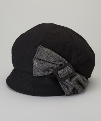 Black Newsboy Cap