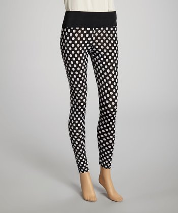 Black & White Polka Dot Sheer Leggings