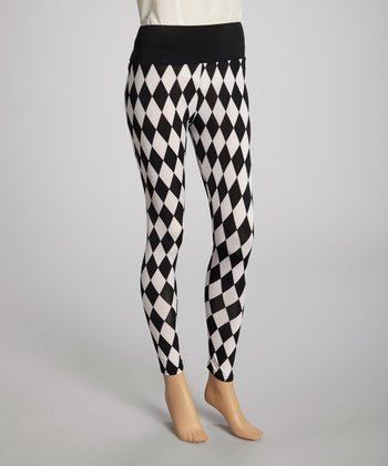 Black & White Harlequin Sheer Leggings