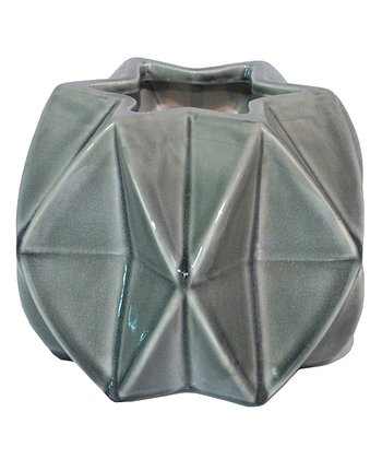 Gray Short Six-Point Star Vase